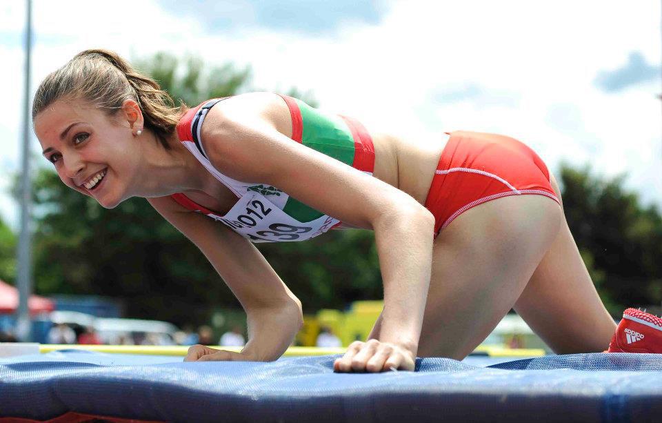 Emma Pooley high jump